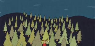 Il posto sotto l'albero | illustrazione di tostoini