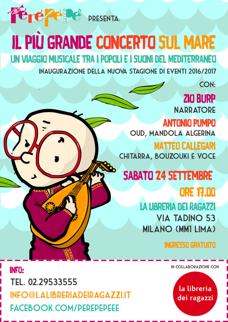 Perepepé Il più grande concerto sul mare spettacolo musicale illustrazione di tostoini