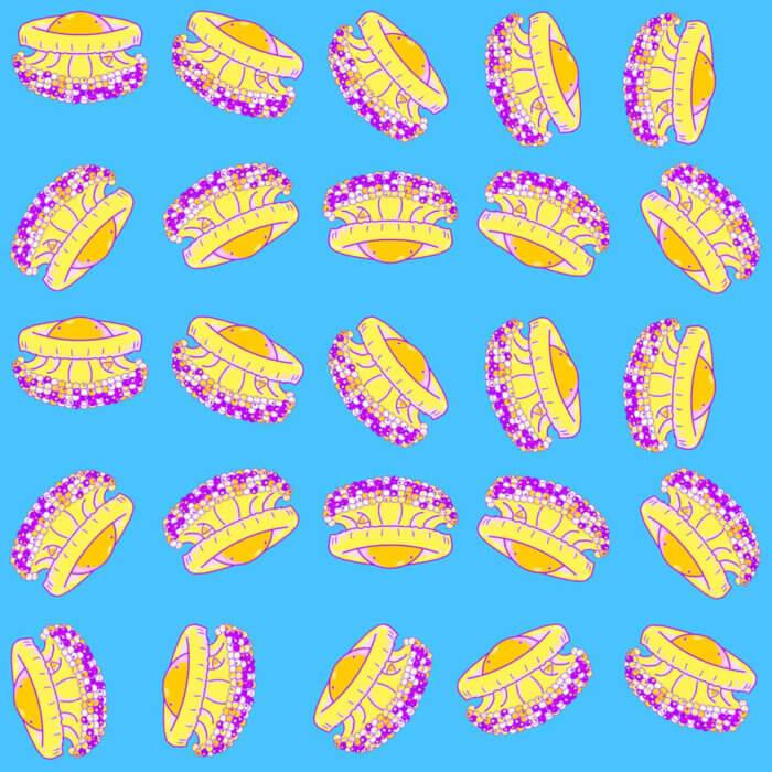 Cothyloriza Tubercolata Jellyfish illustration pattern tostoini
