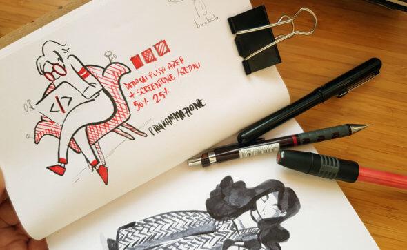 Ink study for apogeo editorial illustration tostoini
