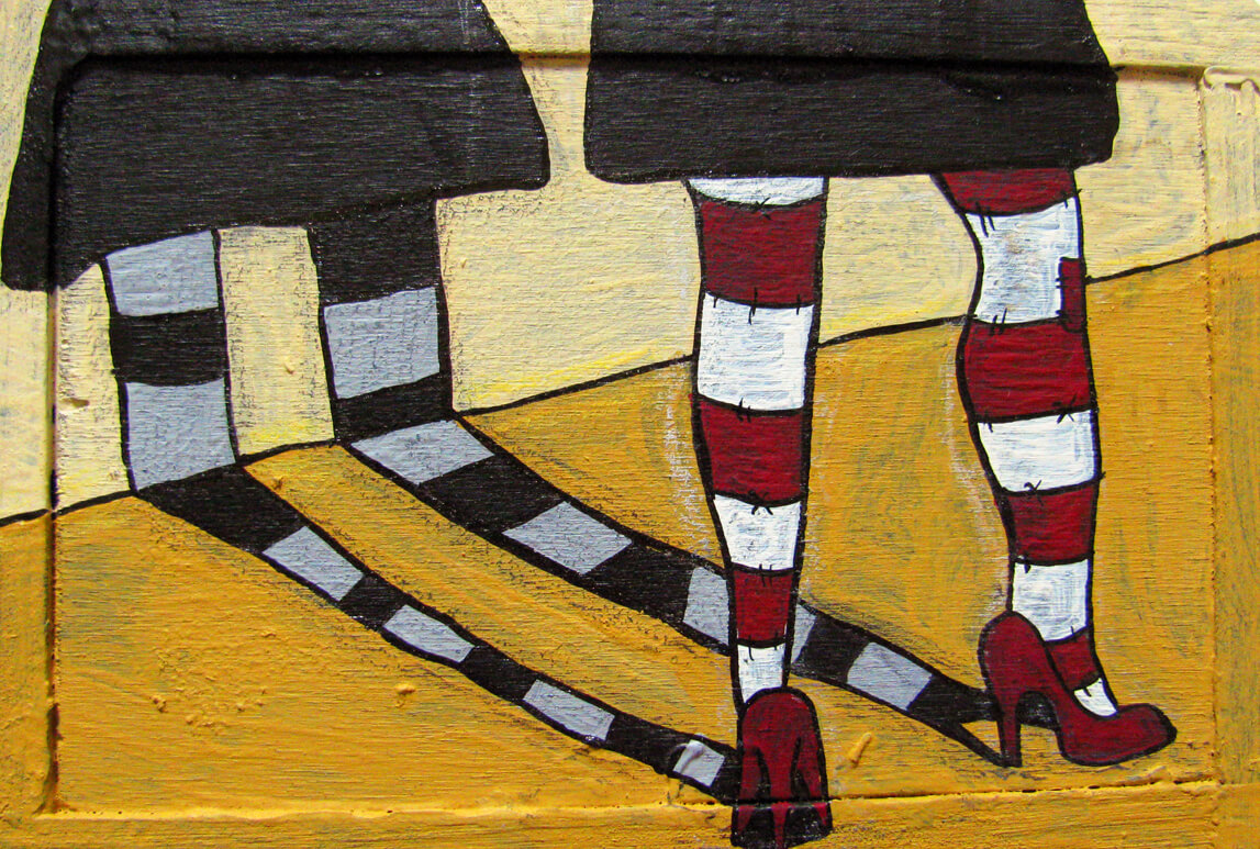 [2010] qUINTEdIcARTA: Red Shoes And Striped Socks