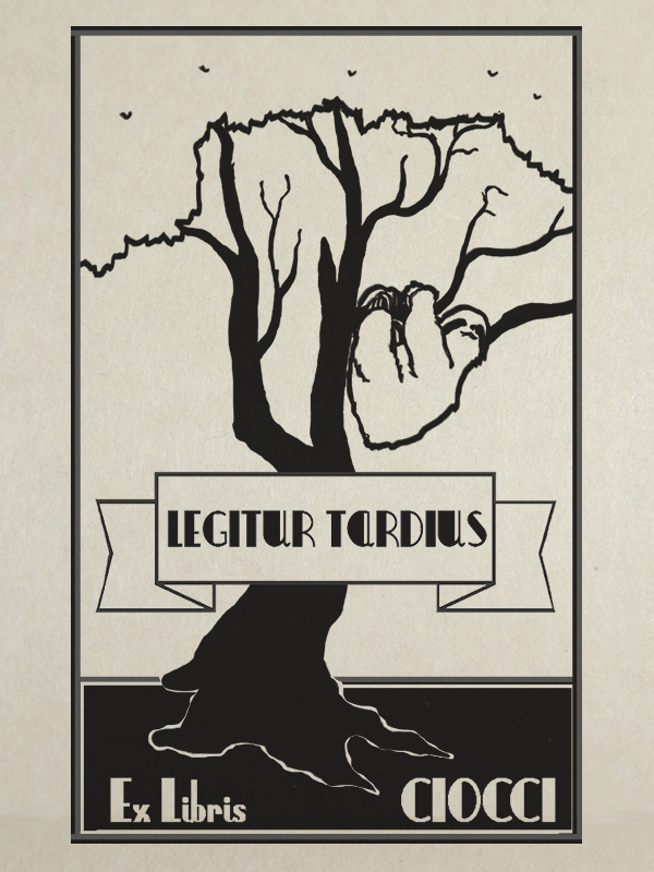 """""""Legitur Tardius"""" design per ex libris personalizzato di tostoini"""