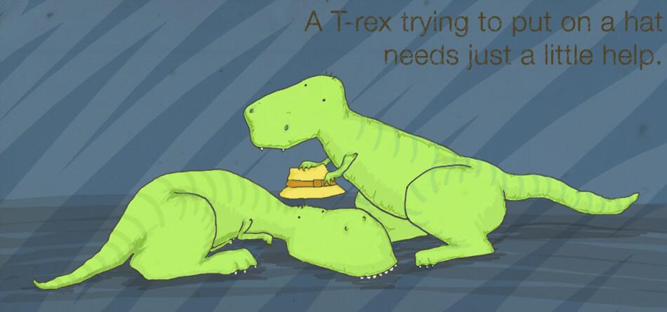 T-Rex illustrazione di tostoini