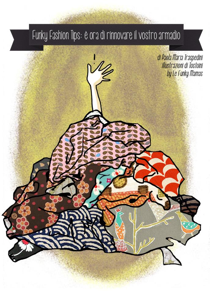 Funky Fashion Tips Marzo illustrazione di Tostoini per Le Funky Mamas