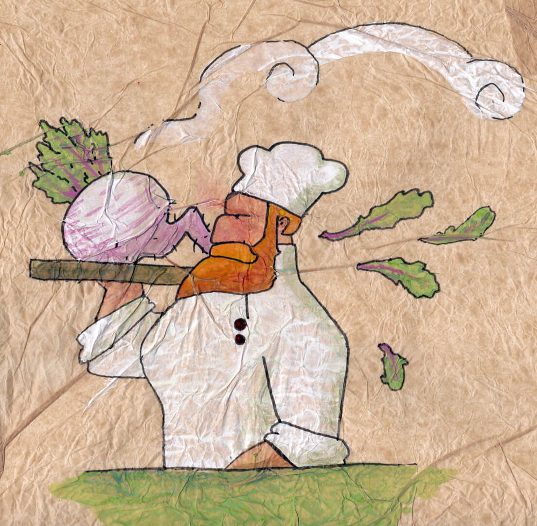 Turnip Chef | Concept art for eBook Baker