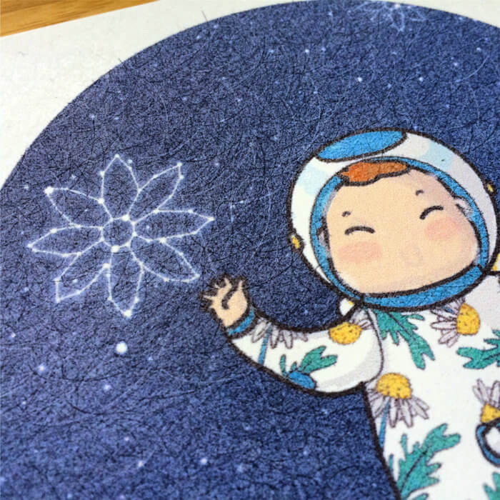 daisy the astronaut work in progress custom made illustration tostoini