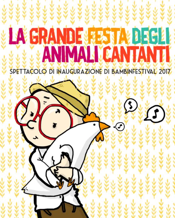 Perepepé La Grande Festa degli Animali Cantanti spettacolo musicale illustrazione di tostoini