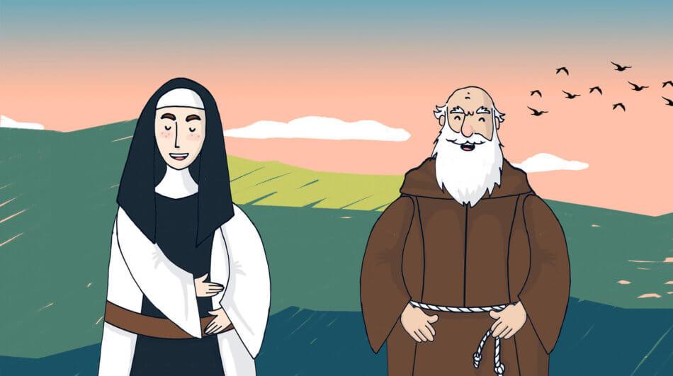 Sacro Monte Kids: suor Tecla Maria Cid e fra' Gian Battista Aguggiari - nun and friar