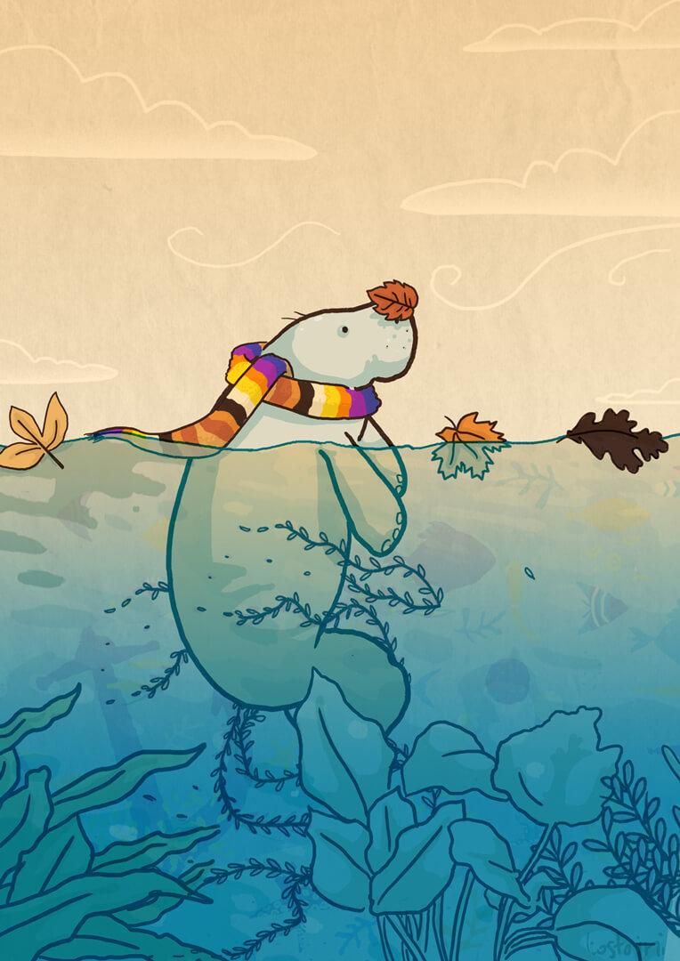 autumn-manatee-illustration-lamentino-tostoini