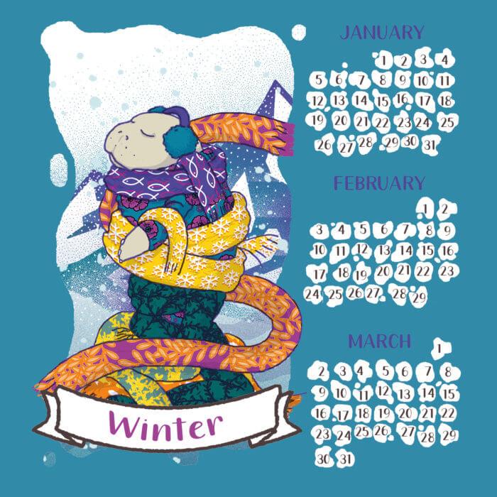 calendario 2020 lamentino tostoini inverno