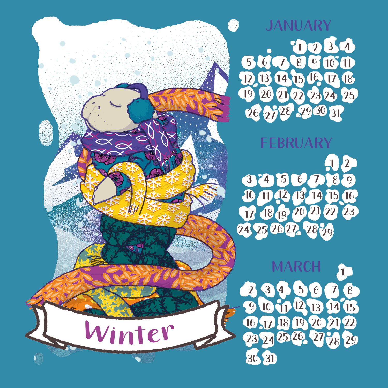 tostoini-lamentino-manatee-winter-calendar-2020