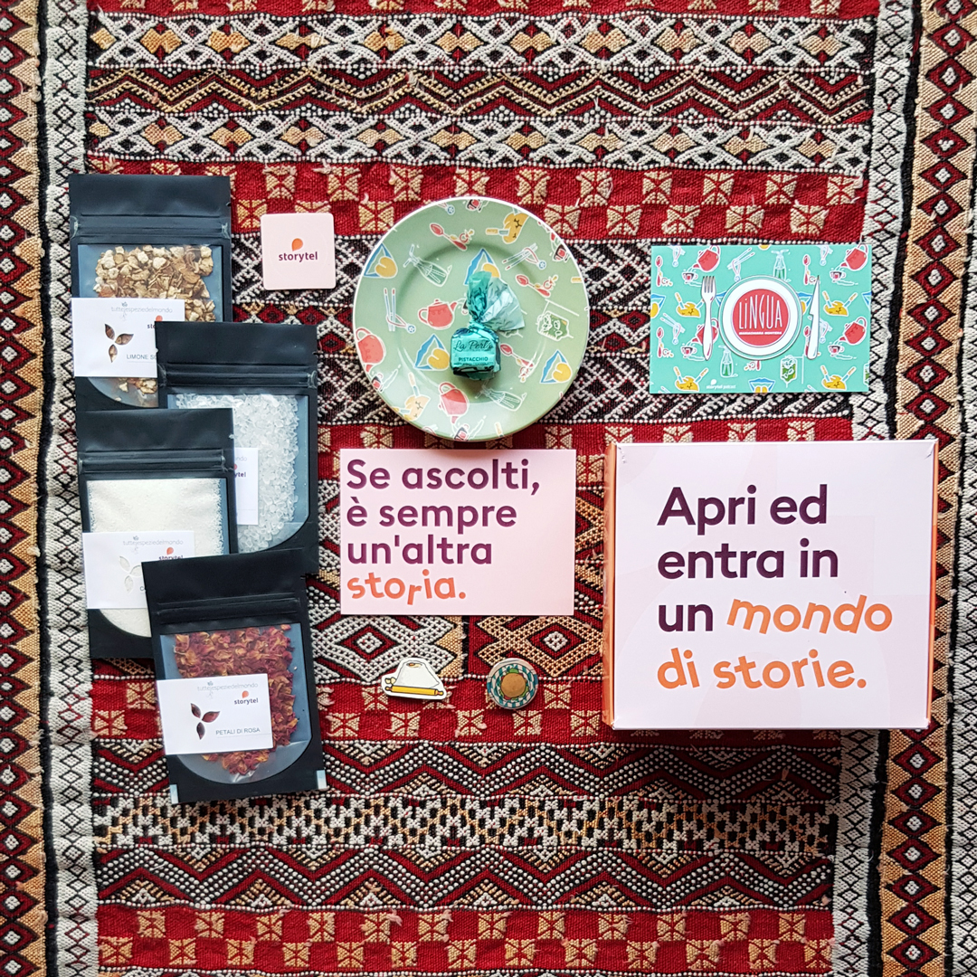 "Storytel original series ""Lingua"" by Mariachiara Montera launch kit"
