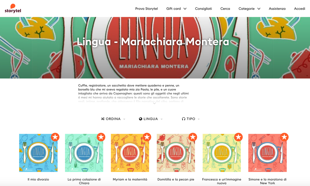 "Storytel origin""Lingua"" by Mariachiara Montera – all the episodes"