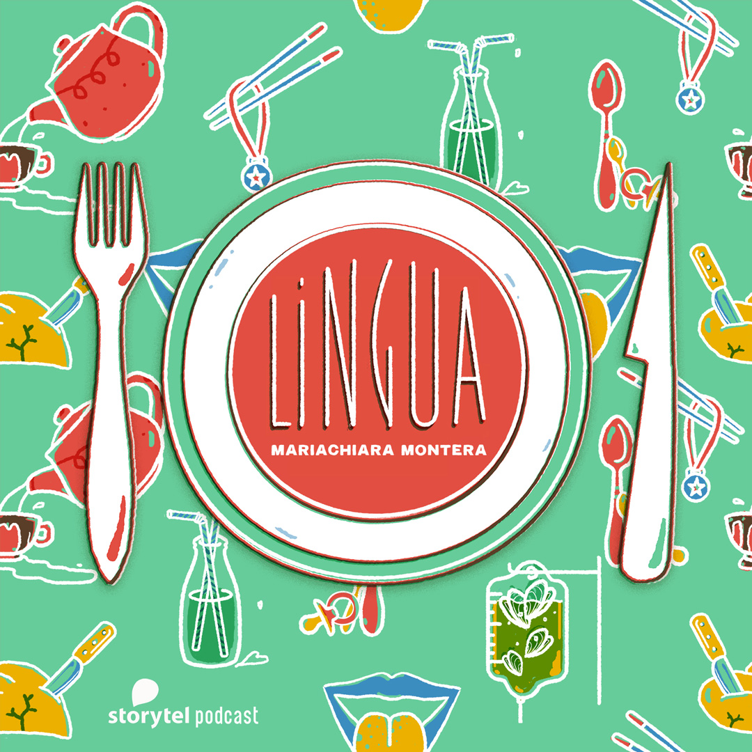 "Cover image for Storytel original series ""Lingua"" by Mariachiara Montera"