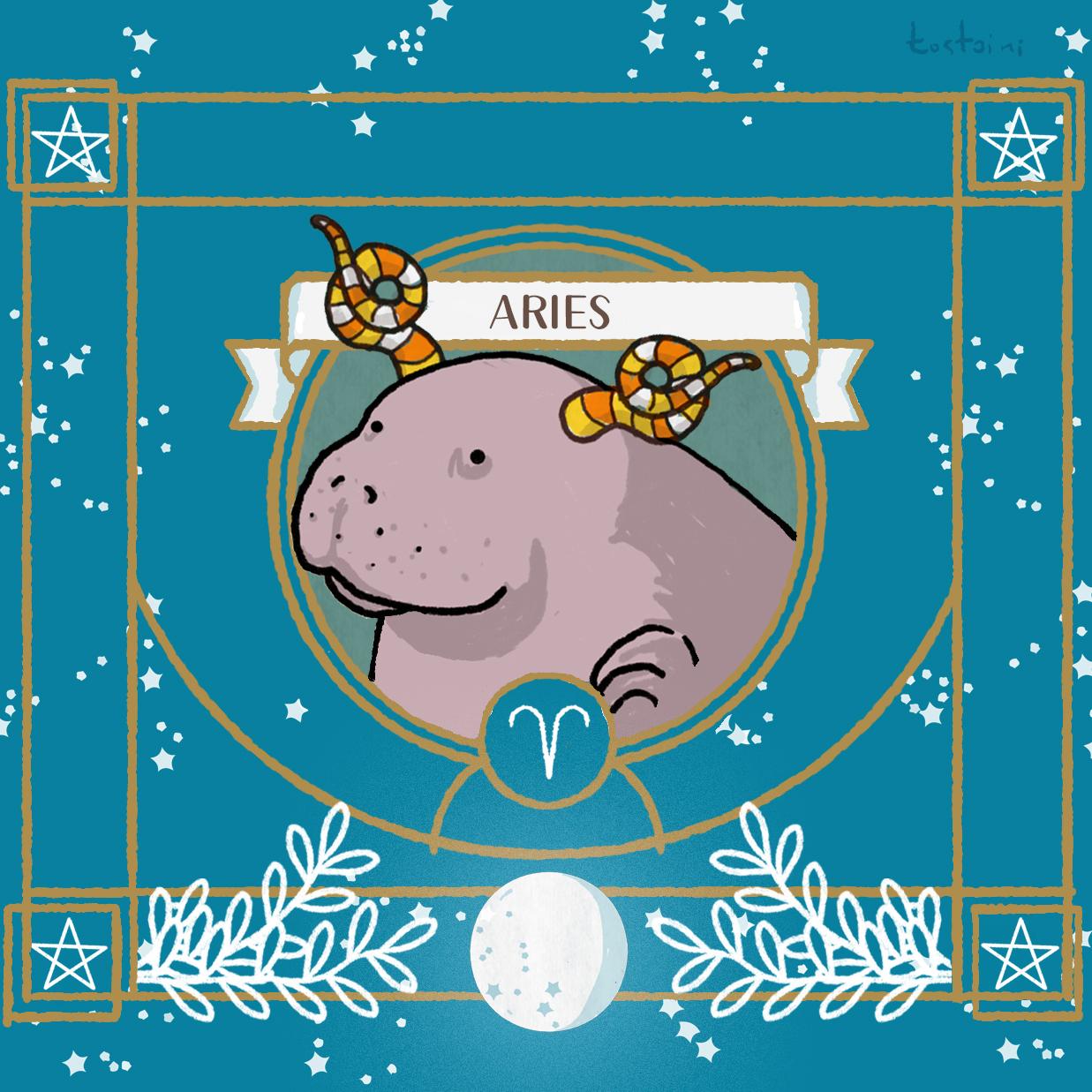 ariete-aries-oroscopo-manatee-lamentino