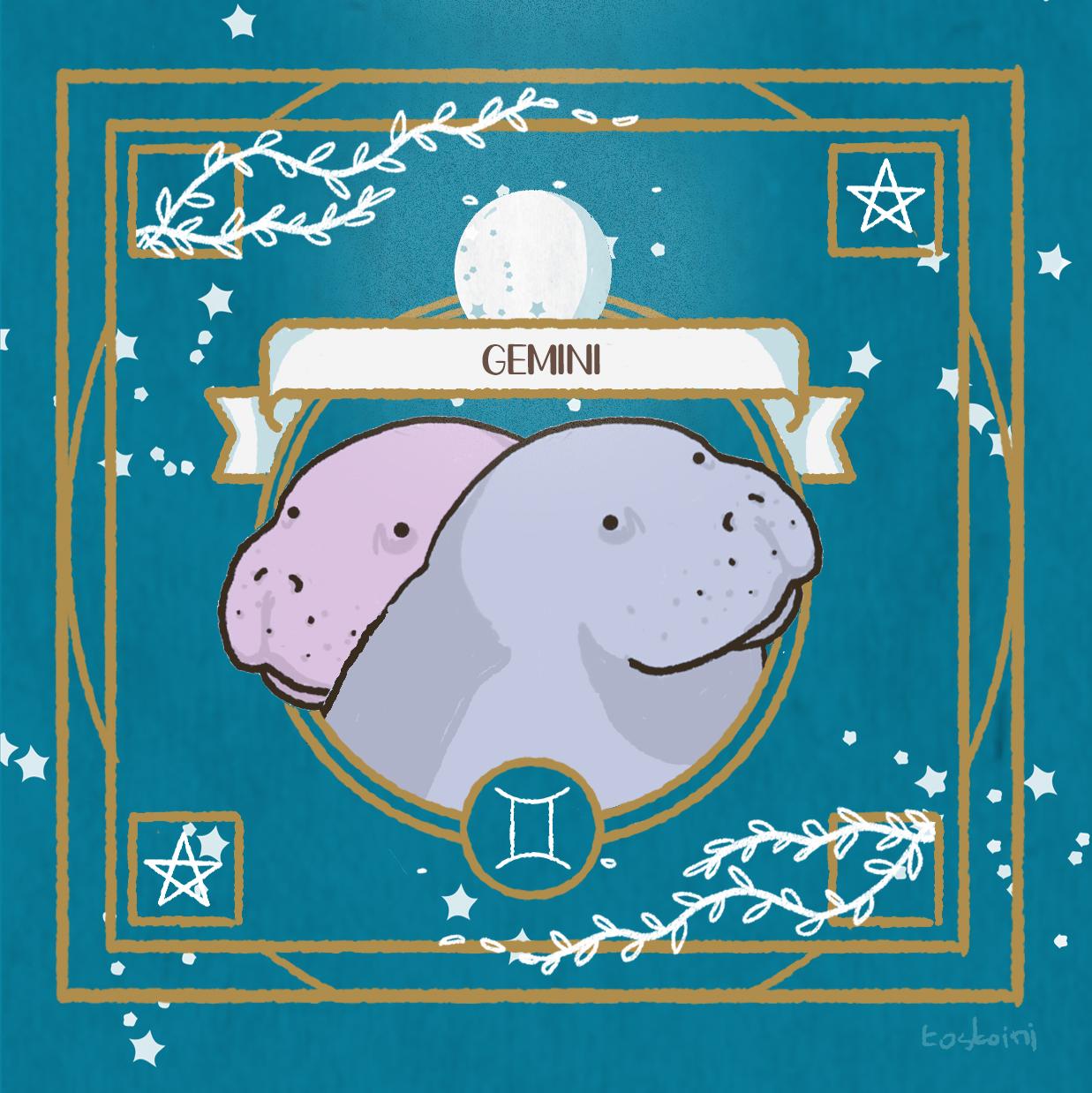 gemini-lamentino-manatee-horoscope-tostoini
