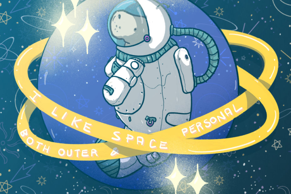 outer space manatee by tostoini